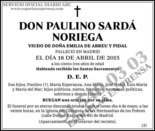 Paulino Sardá Noriega